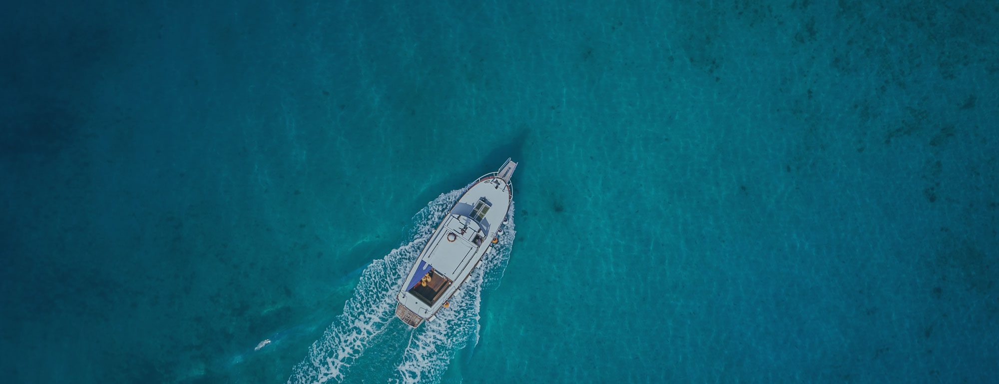 Marine Essentials boat on the ocean