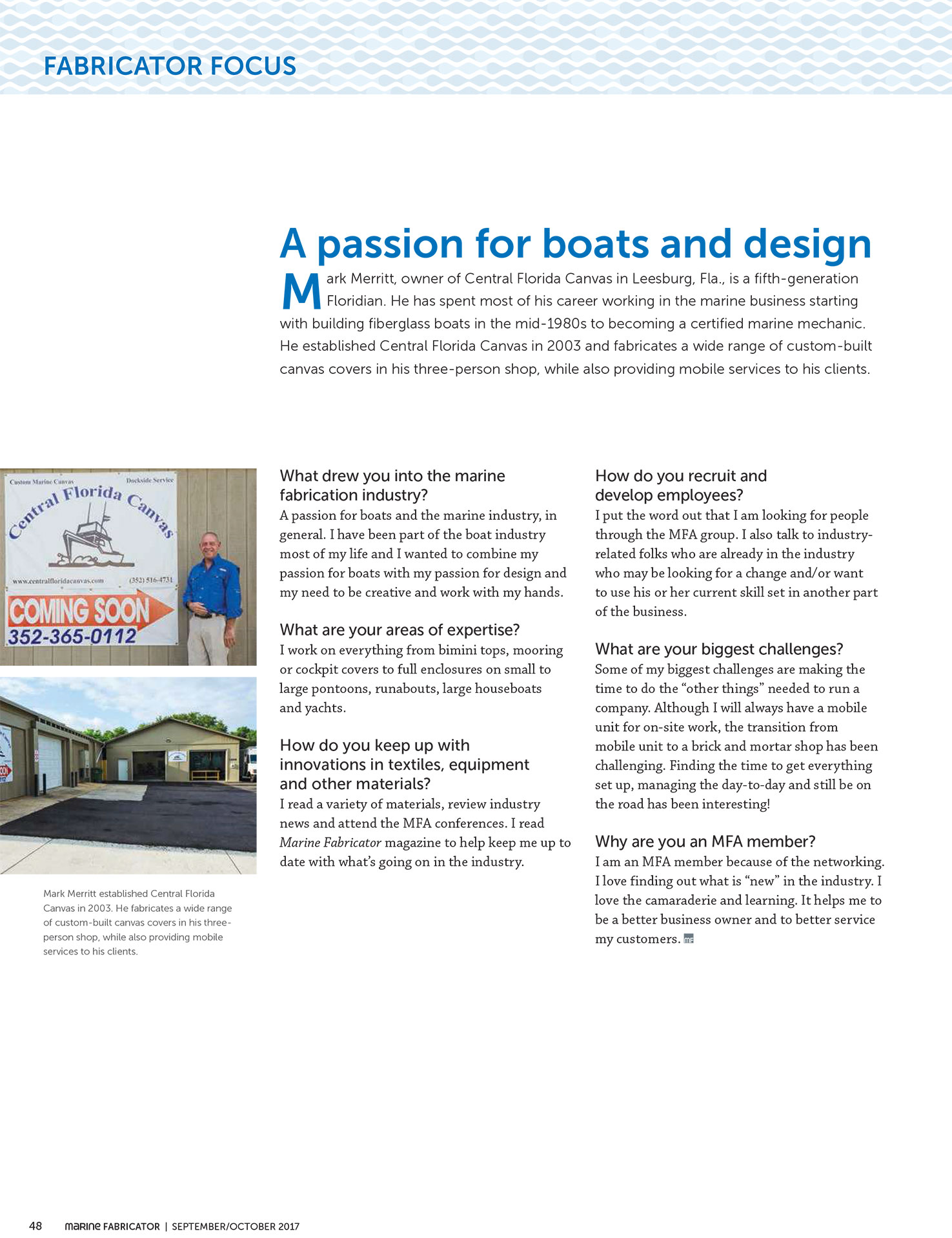 Passion For Boats Article